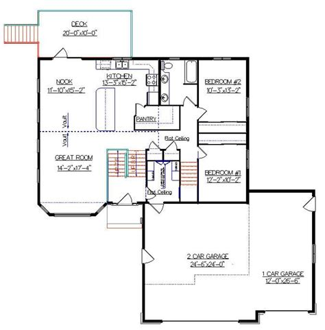 bi level house plan with a bonus room 2010542 by e designs