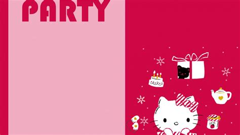 kitty wallpaper  party invitation card