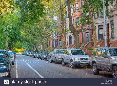 we buy houses brooklyn brownstone row houses in the park slope neighborhood in brooklyn new stock photo