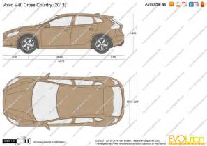 Volvo V40 Size The Blueprints Vector Drawing Volvo V40 Cross Country