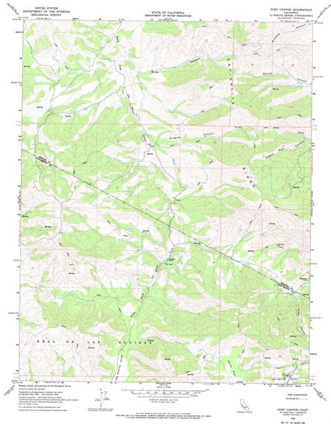 ruby map ruby topographic map ca usgs topo 36121g1
