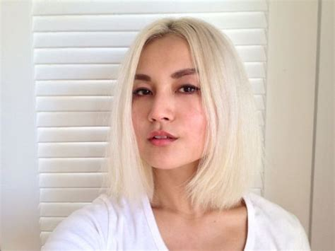 blonde asian bob going platinum blonde introduced me to new level of pain