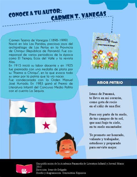 biografia de carmen tejeira de vanegas conoce a tu autor marzo 2013 carmen tejeira