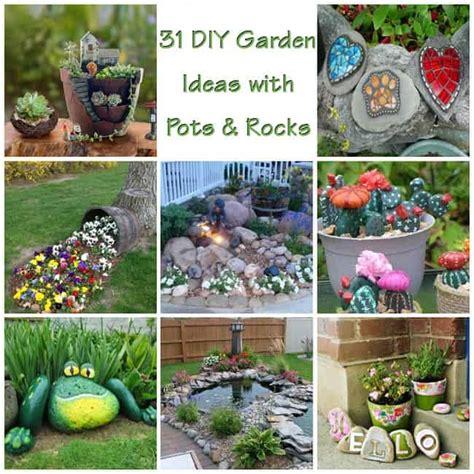 ideas for garden pots 31 diy awesome garden ideas with pots and rocks gardenoid