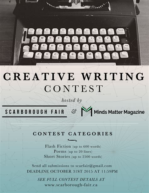 Creative Writing Essay Contest by Welcome To Minds Matter Magazine
