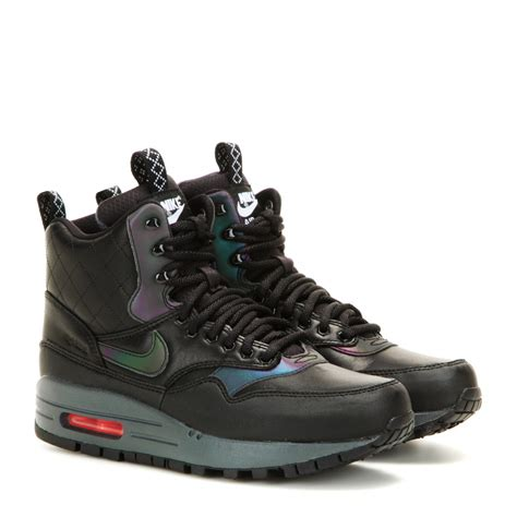 nike boot for nike air max 1 mid sneaker boots in black lyst