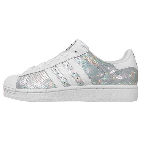 Adidas Silver adidas originals superstar 2 w silver white womens casual