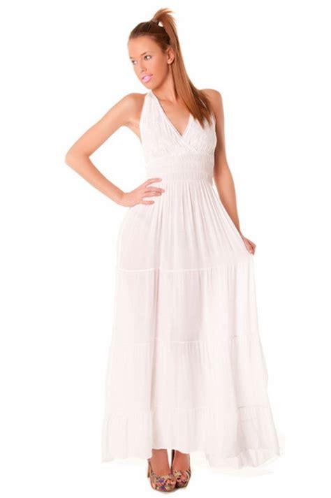 Robe Longue Et Blanche - robe longue blanche d 233 t 233