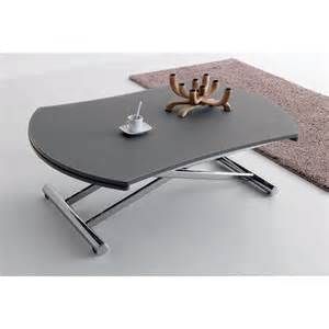 table basse relevable ronde verre opaque meubles
