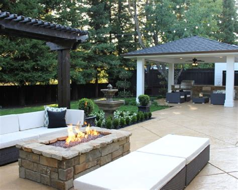 backyard deck and patio ideas decorating cool outdoor patio ideas with rectangle fire