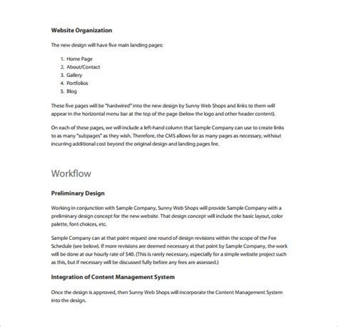 templates for website proposal proposal templates 140 free word pdf format download