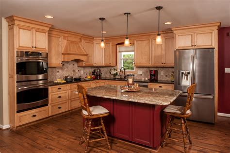 different types of countertops kitchen traditional with