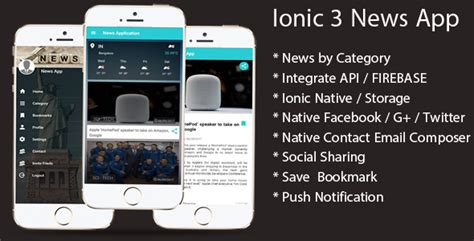 themeforest ionic app ionic 3 news app with firebase free nulled