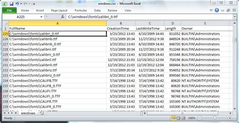 powershell format csv as table download download powershell directory listing file size