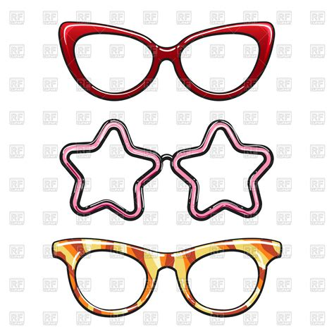 colorful eyeglasses colorful eyeglasses set on white background