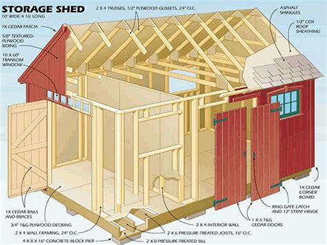 gable storage shed plans blueprints  crafting