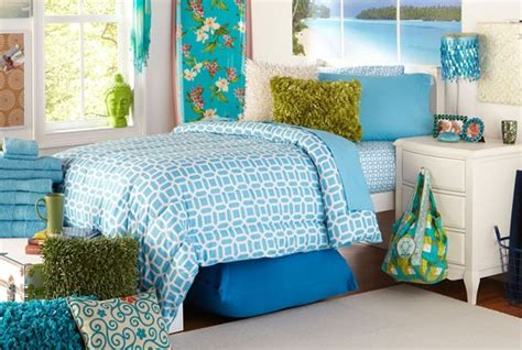 rhl bedding welcome to your dorm aqua geo linen set now available
