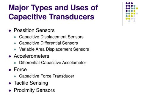 types of capacitive transducers ppt capacitive transduces powerpoint presentation id 350426