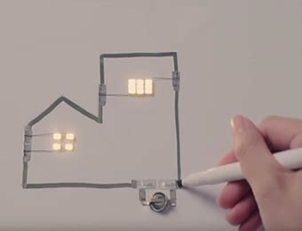 marker pen enables you to draw an electric circuit
