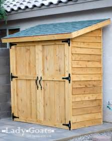 Outdoor Shed Plans by Ana White Small Cedar Fence Picket Storage Shed Diy