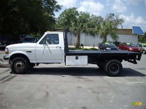 flat bed ford 1997 oxford white ford f350 xl regular cab dually chassis