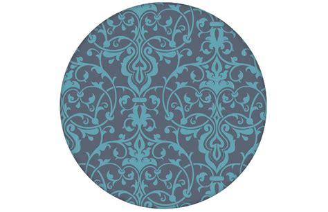 Blaue Tapete Mit Muster by Edle Blaue Tapete Mit Klassischem Damast Muster Angepasst