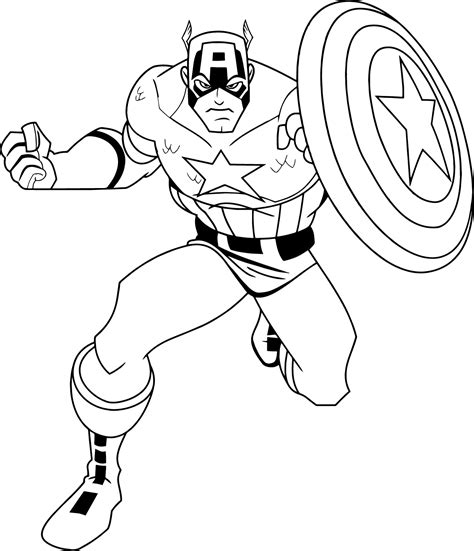 Captain America Color Page Captain America Coloring Pages To Download And Print For Free