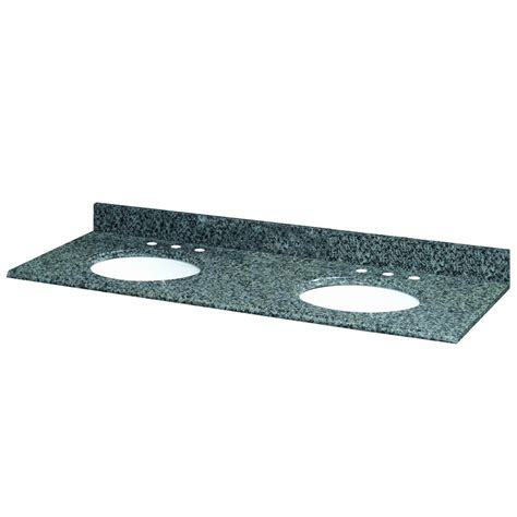 61 In Vanity Top by Pegasus 61 Inch W X 22 Inch D Quadro Granite Vanity Top