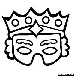 Purim Mask Template by Purim Mask Coloring Page Free Purim Mask Coloring