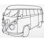 Vw Campervan Colouring Pages Page 3