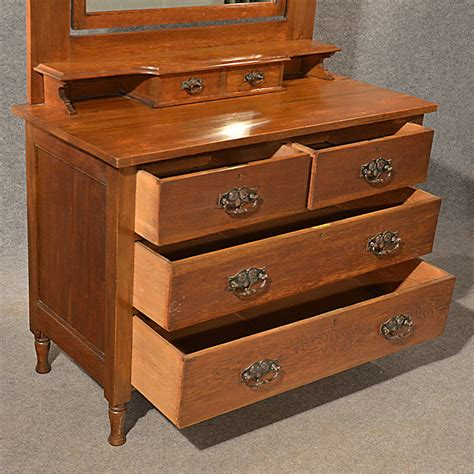 Oak Vanity Table With Drawers Antique Oak Dressing Table Vanity Chest Of Drawers Antiques Atlas