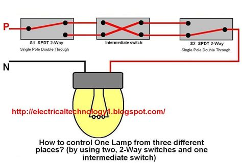 two way electrical switch wiring diagram 2 way switch how to one l from three different