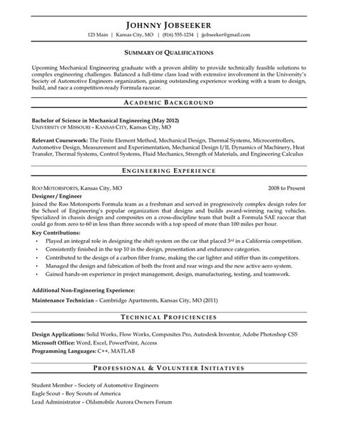 New Grad Resume Templates 233 Chantillons Cv Freecvdownload