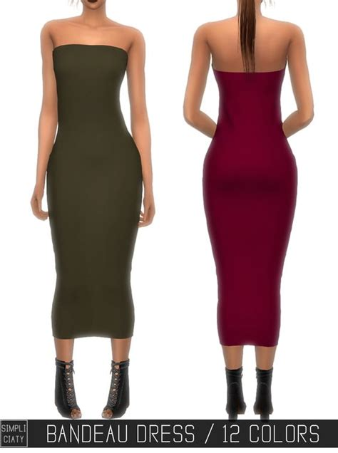 Dress Cc the sims 4 cc simpliciaty bandeau dress read