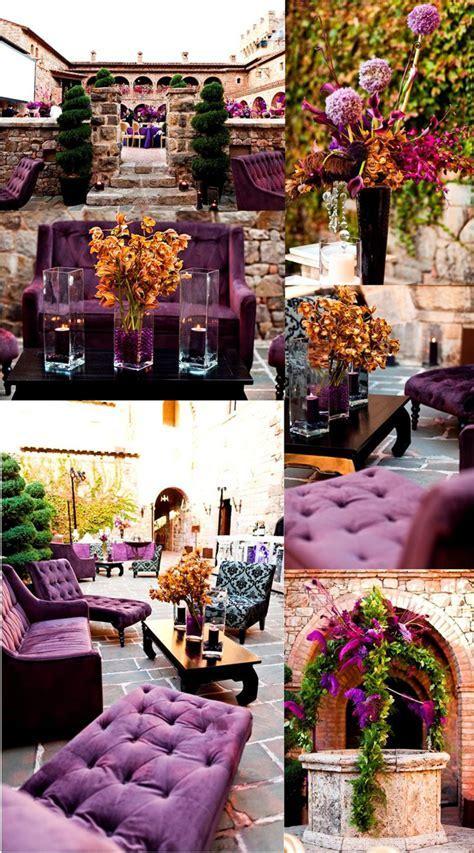 Purple and Gold Wedding Decoration Inspirations   Wedding