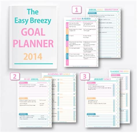 free goal planner printable free downloadable goal planner organizing pinterest