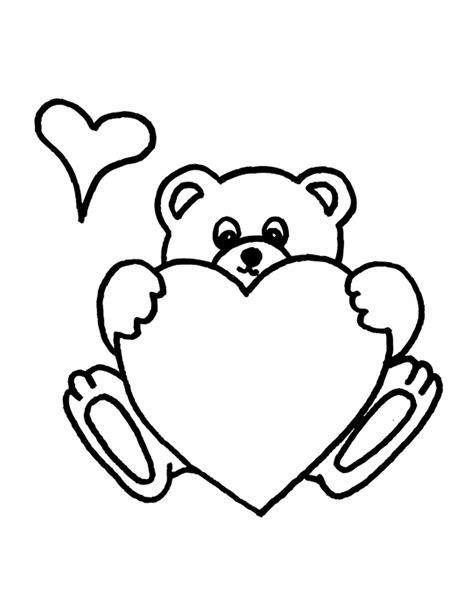 coloring pages of bears holding hearts teddy bear coloring pages printable coloring pages