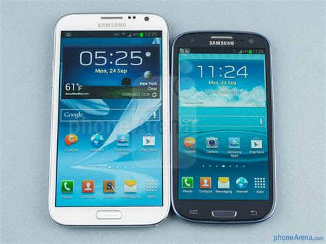 samsung galaxy note ii vs galaxy s iii