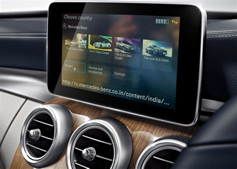 mercedes apps in india for cars with comand