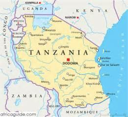 Tanzania Africa Map by Tansania Kapital Karte