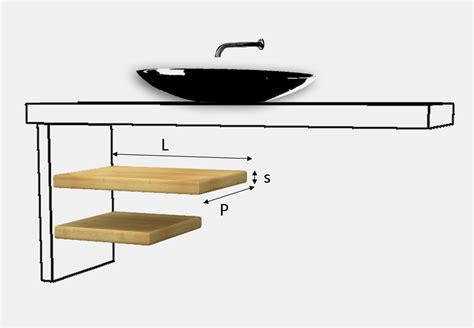 mensole legno massello mensola coordinata per top lavabo legno massello su misura