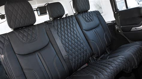 quilted leather seats jeep jeep wrangler cj300 by kahn design