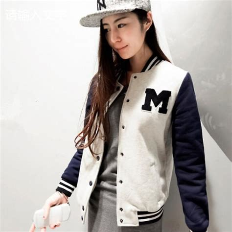 Jaket Wanita Jacket Parka Hoodie Bomber Windbreaker Varsity19 autumn and winter letter m varsity jacket sleeve baseball jacket coat sportwear