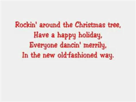 hannah montana rockin around the christmas tree lyrics