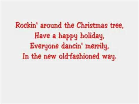 rockin around the christmas tree hannah montana