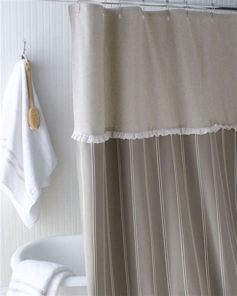 french shower curtains french laundry home quot french stripe quot shower curtain