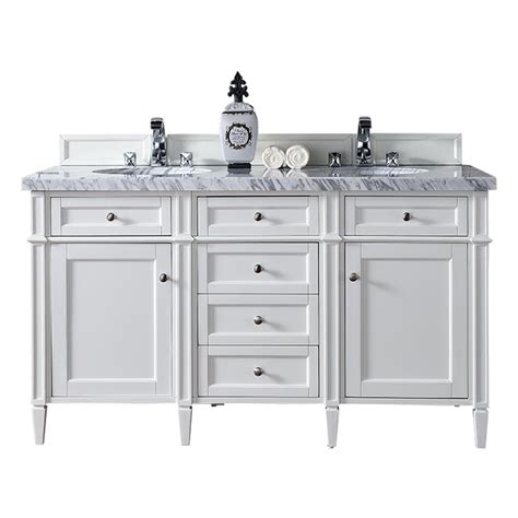 Martin Vanity by Martin Signature Vanities 60 In W Vanity In Cottage White With Marble