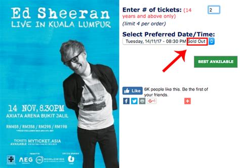 ed sheeran malaysia scalpers are reselling tickets to ed sheeran s kl concert