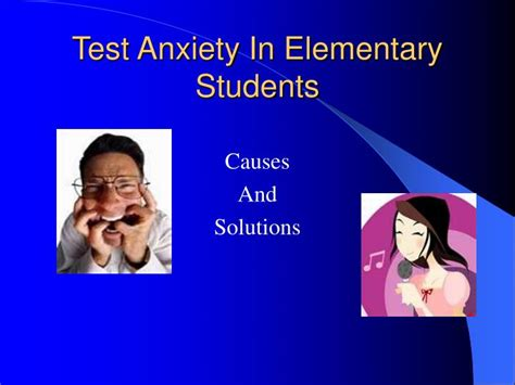 powerpoint tutorial for elementary students ppt test anxiety in elementary students powerpoint