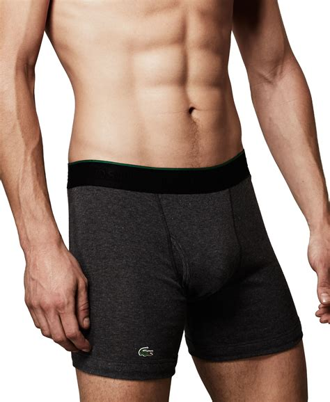 Lacoste Pouch By Miss Hollabag lacoste s boxer briefs 3 pack in black for lyst